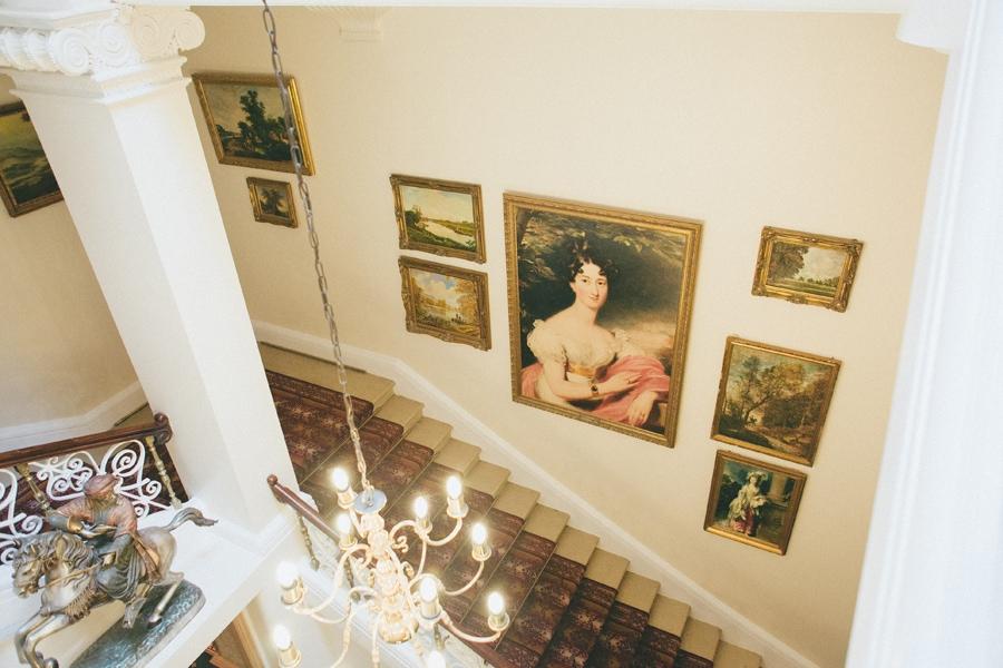 Artwork at Down Hall, Hertfordshire wedding venue