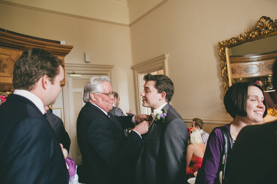 Father & groom at down hall