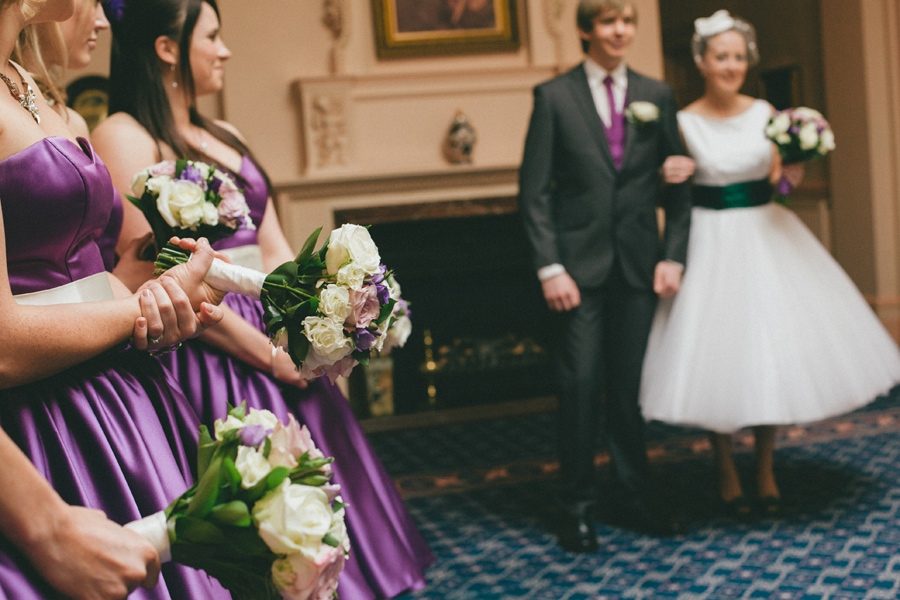 Bride & bridesmaids at down hall