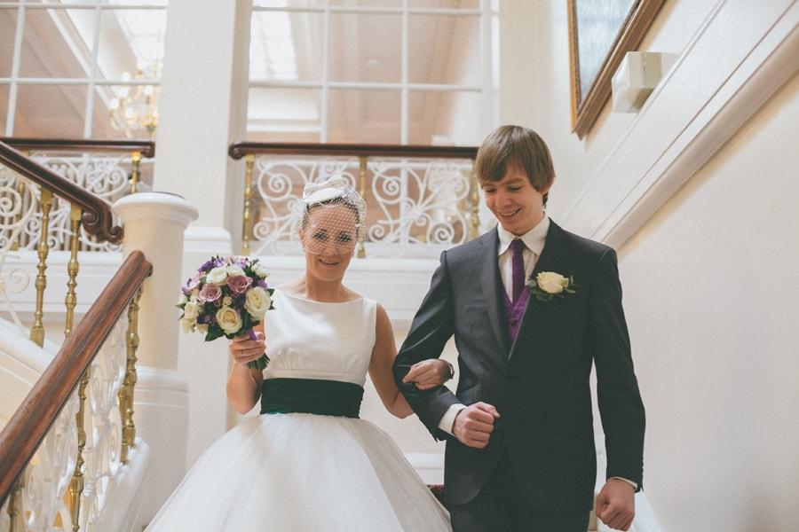 Bride at down hall, herts