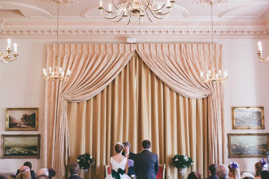 Down hall wedding room