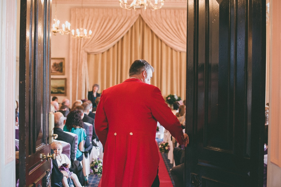 Down hall wedding exit