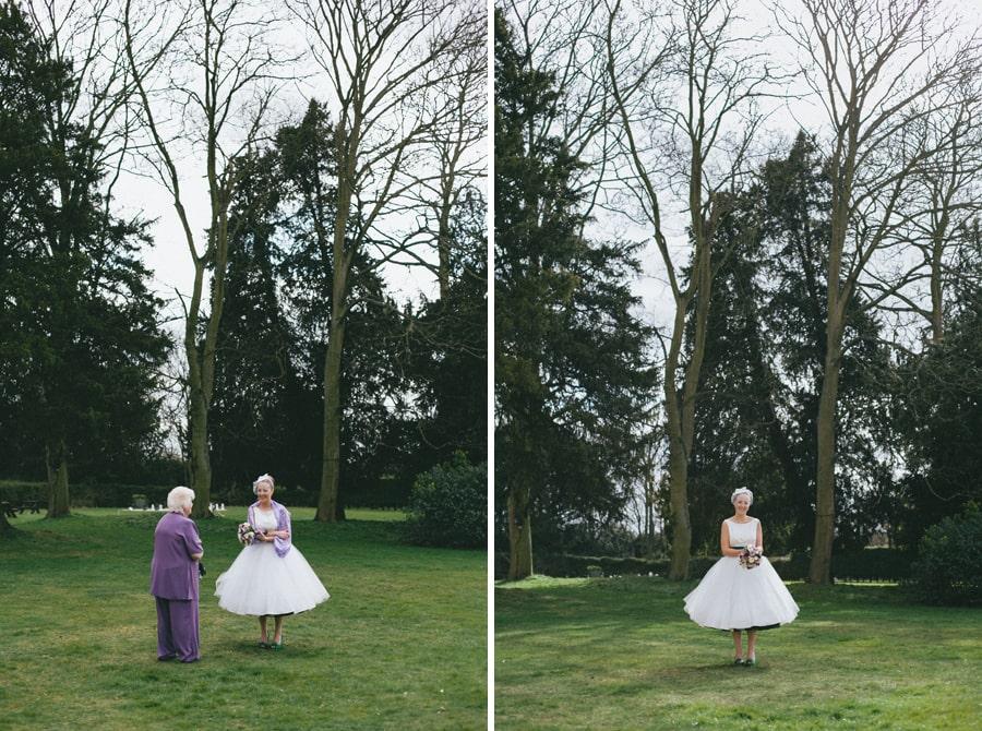 Brides portrait at Down Hall, Hertfordshire