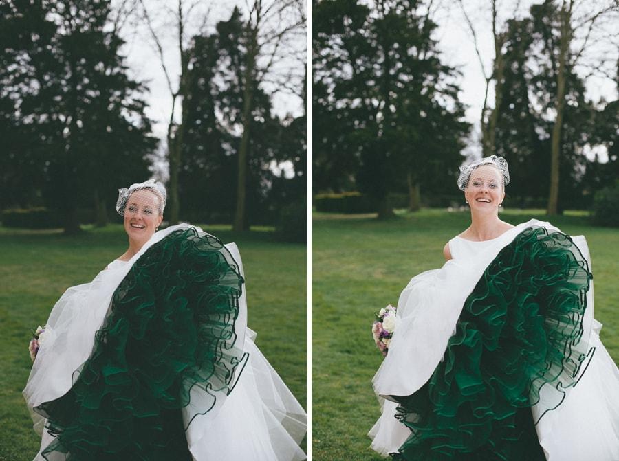 Another Brides portrait at Down Hall, Hertfordshire