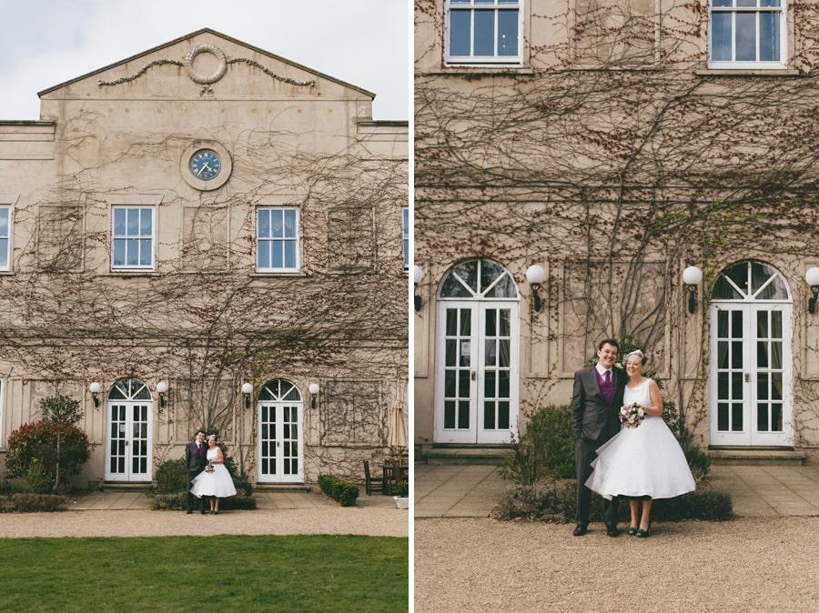 Wedding photos with nice back drop