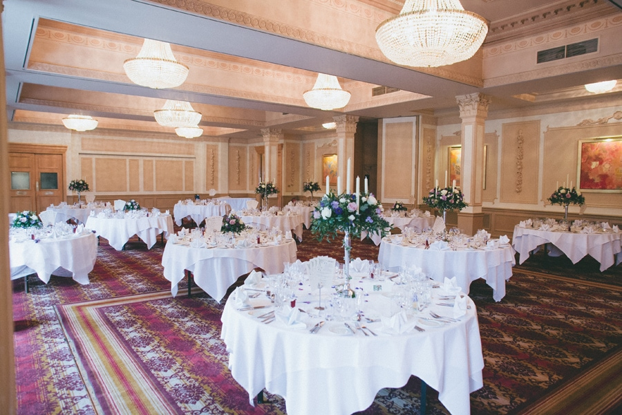 Down hall dining area