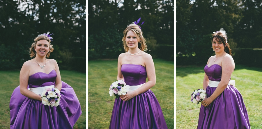 Bridesmaids at down hall, hertfordshire