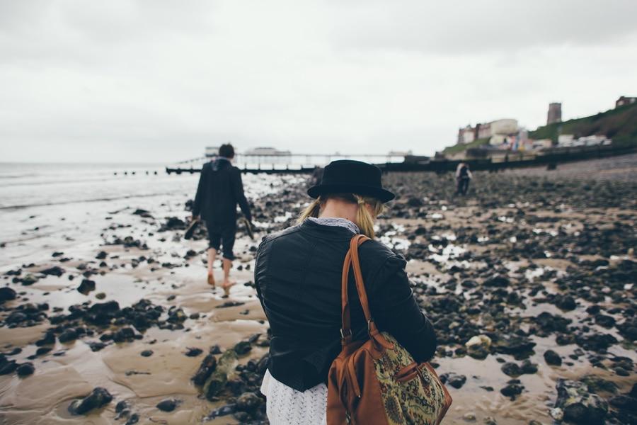 Alexandra Cameron on the beach in Norfolk