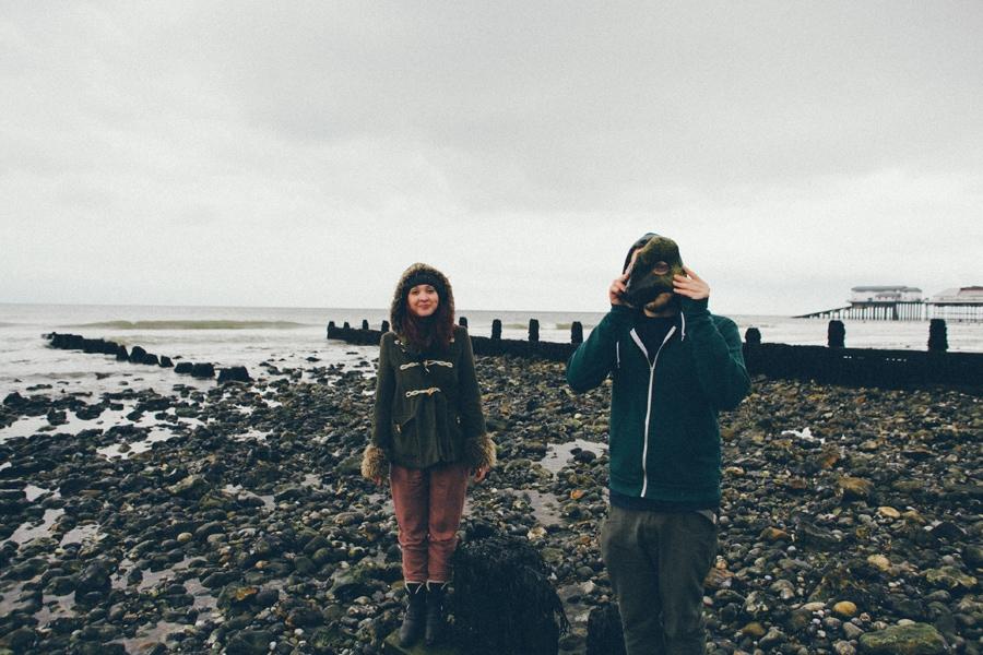 Jenny & Jamie on the beach in Norfolk