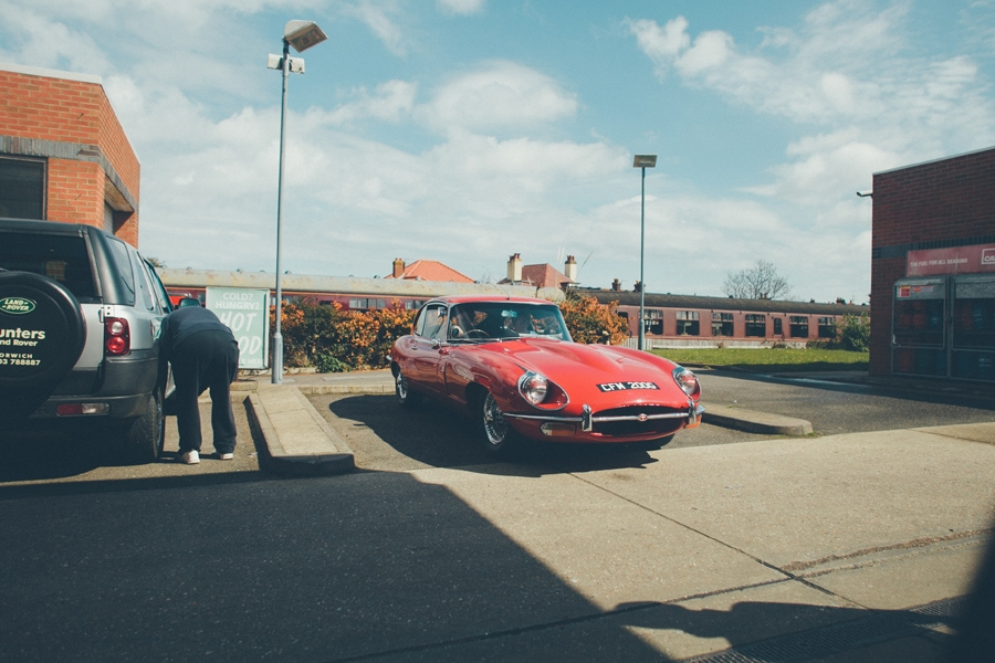 a beautiful red jaguar
