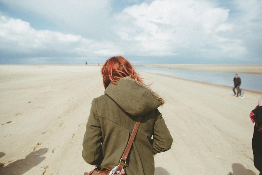 jenny hall on the beach, norfolk