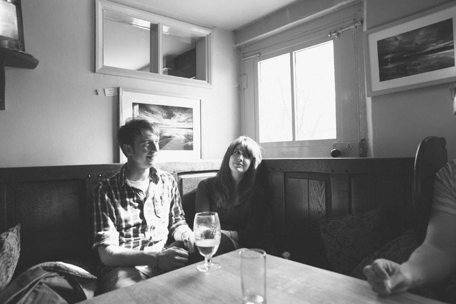 matt and emma in the pub