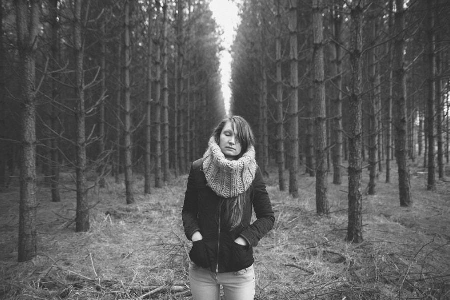 Anastasia in Norfolk trees. VSCO Film