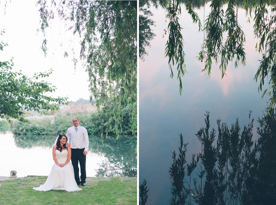Wedding photo under the willow