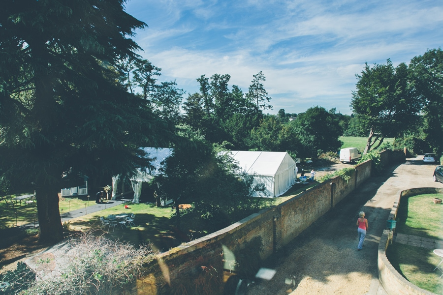 View from the window at Jackie & Jez's Hertfordshire Wedding