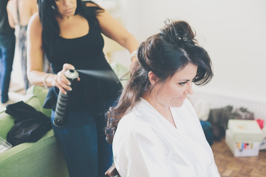 Hairspray for the bride in hertfordshire