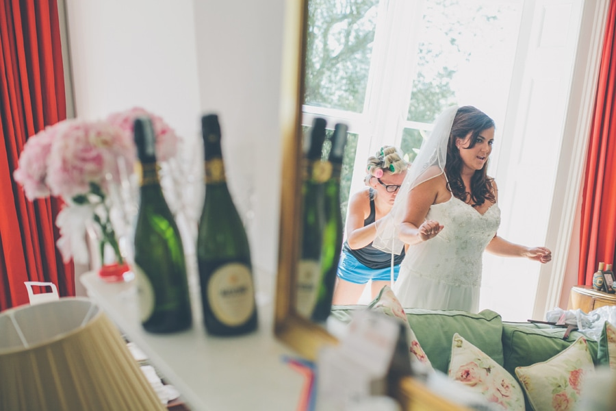 Bride getting done up
