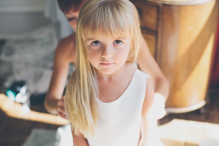 A young bridesmaid