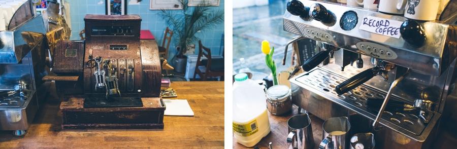 coffee machine in Dog and Whistle Emporium, hertford