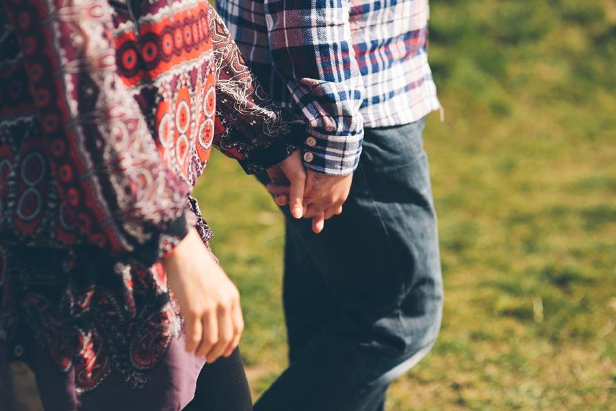 matt and tonia holding hands in essex