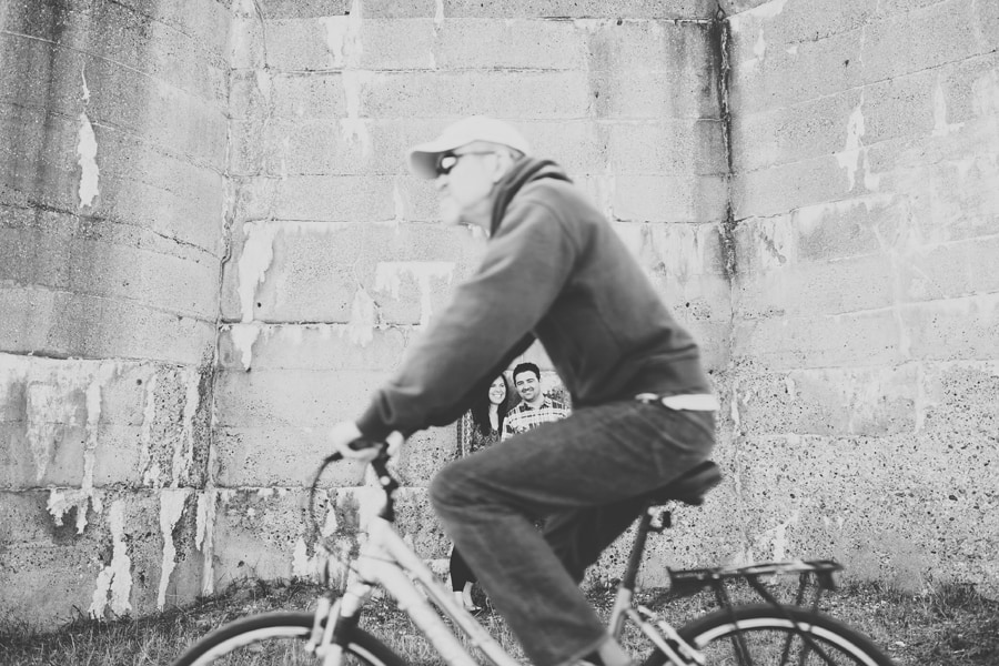 man on a bike getting in the way of the photo