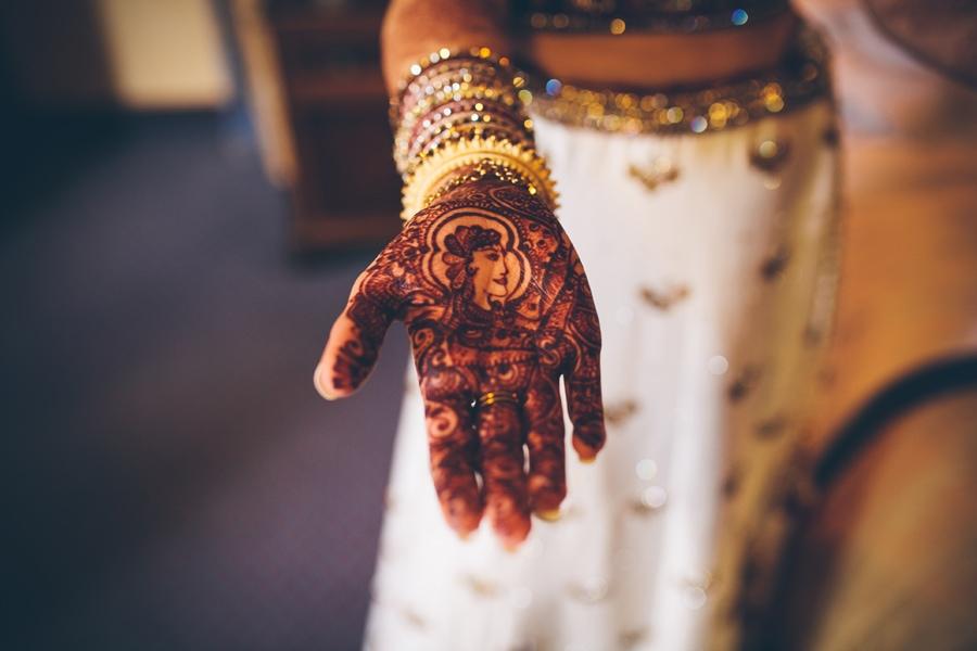 asian wedding hand henna