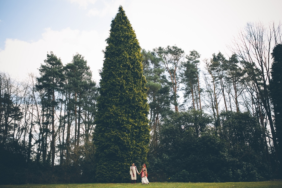 tiny portrait of the bride and groom at Copthorne Hotel