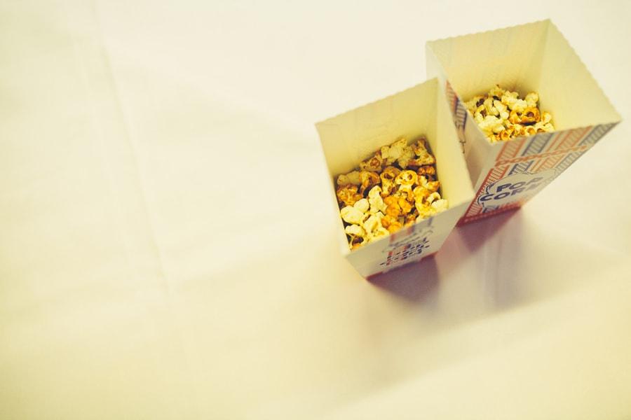 popcorn at this wedding