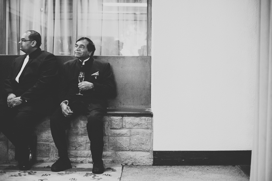 black and white portrait at this wedding