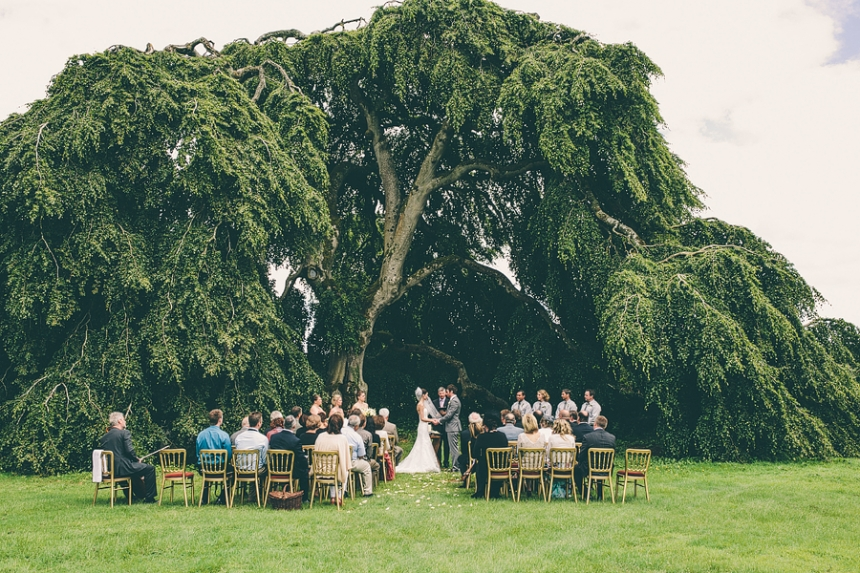 emily and paul got married under a tree in ireland