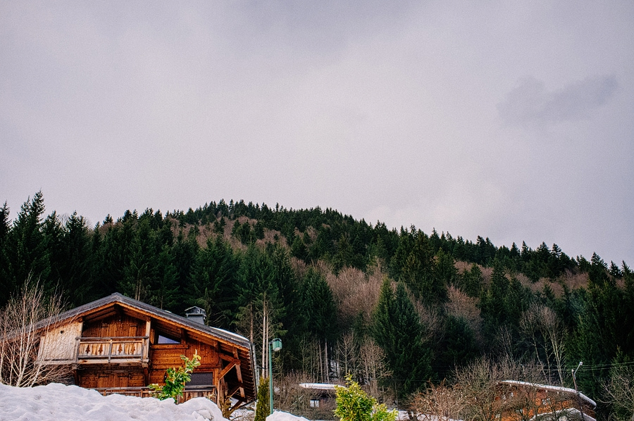 house on a mountain in morzine, france