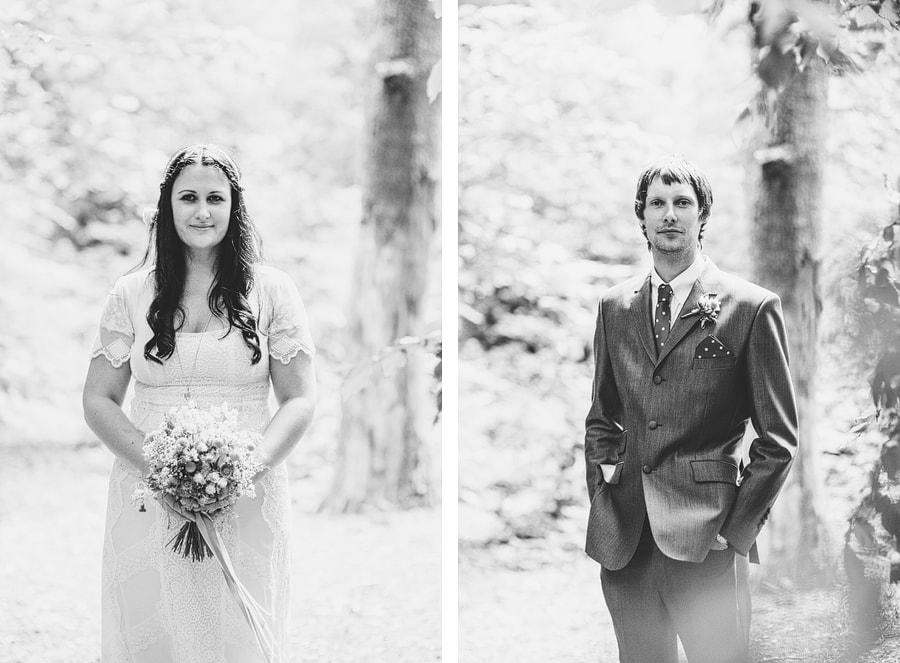 joanne and ross london wedding in the woods