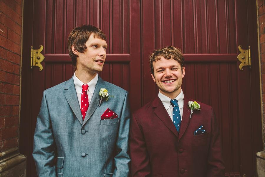 groom and best man in londons kings cross