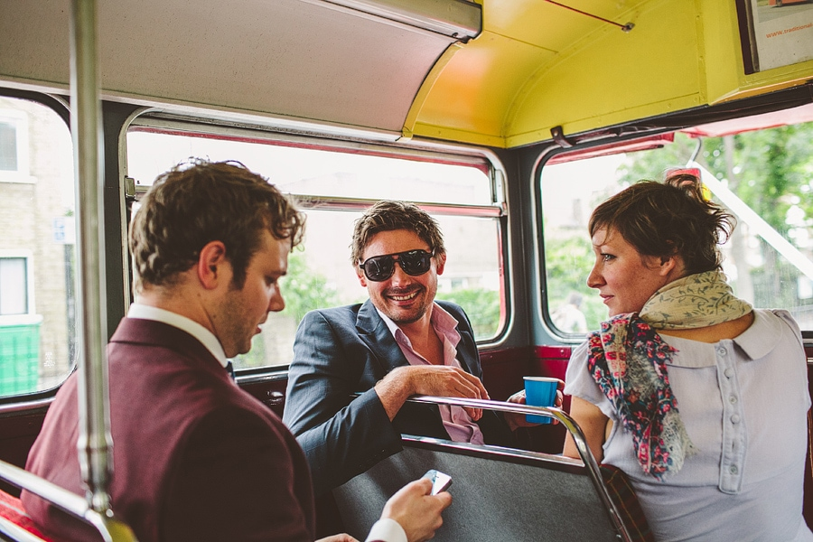 the bus journey to the pub