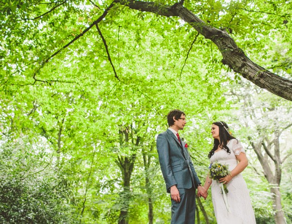 london wedding in the woods