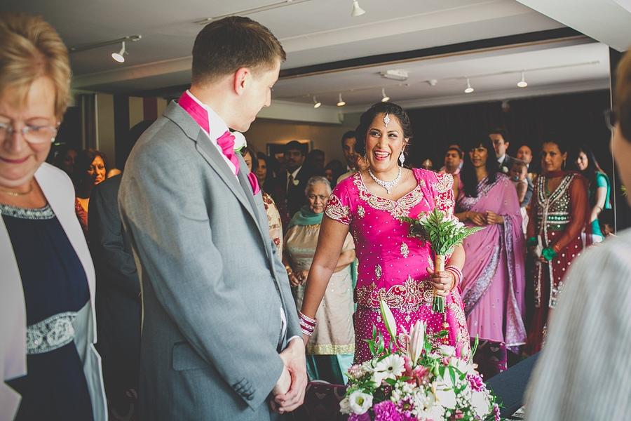 a very happy bride
