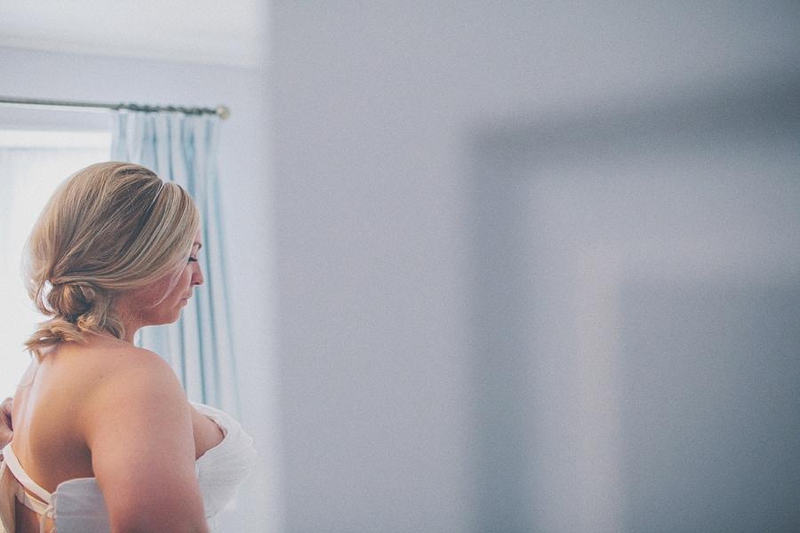 bride in her dress