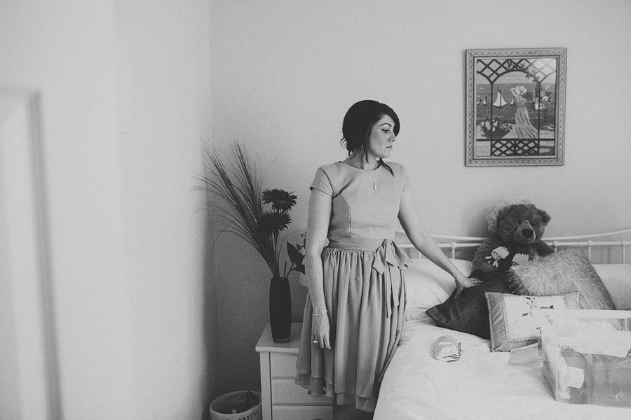 standing in the bedroom