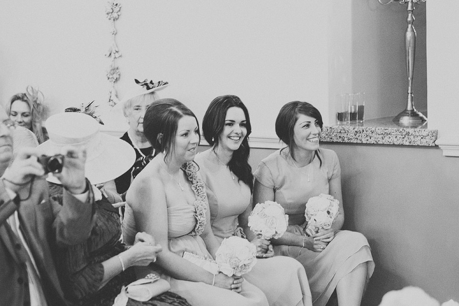 bridesmaid looking happy