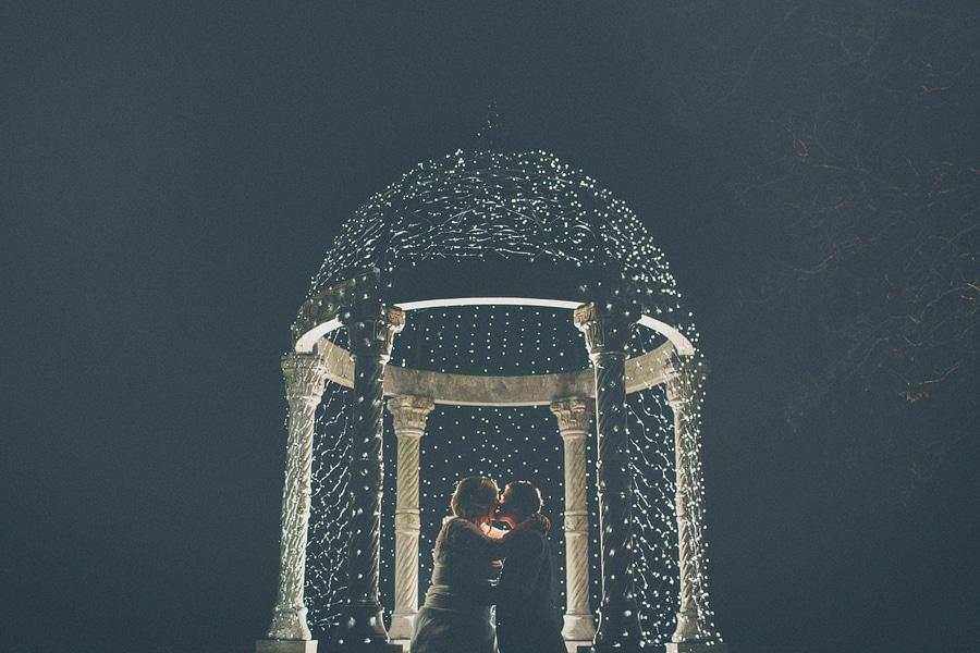 wedding portrait at night