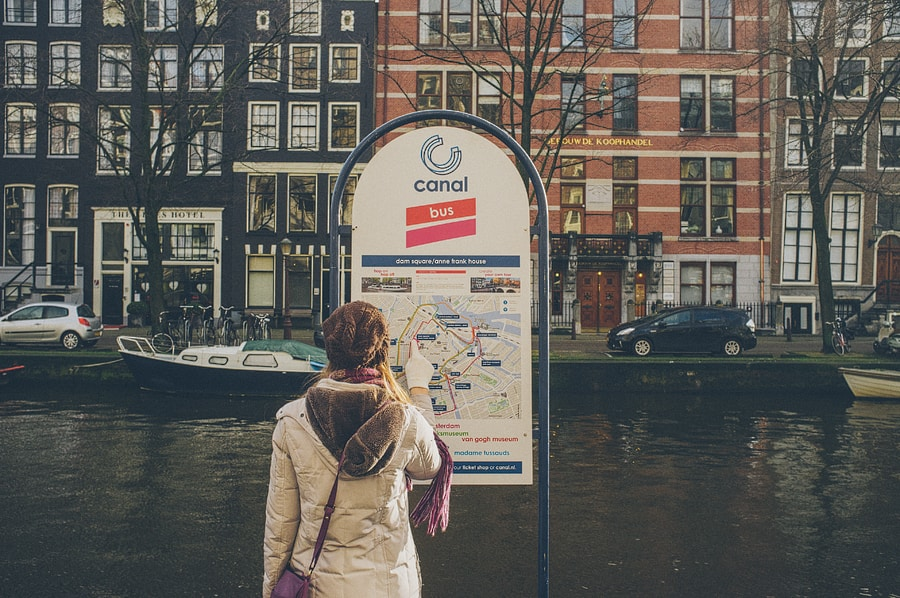 canal bus map in amsterdam