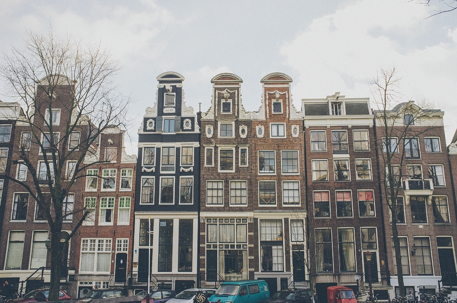 some buildings in amsterdam