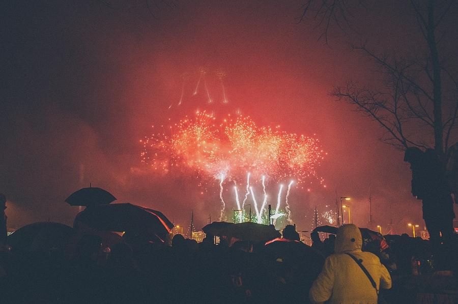 fireworks in amsterdam