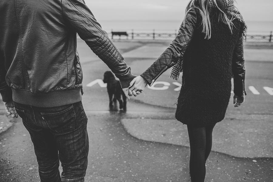 hayley daniel holding hands in brighton