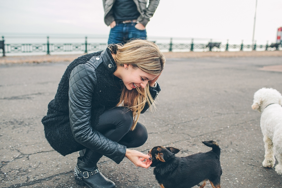 hayley and her dogs in brighton