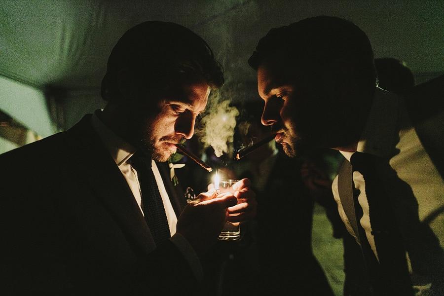 wedding day smoke