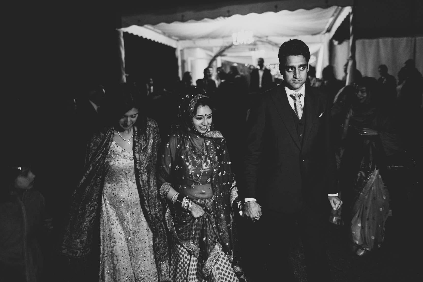 bride leaving her hindu wedding