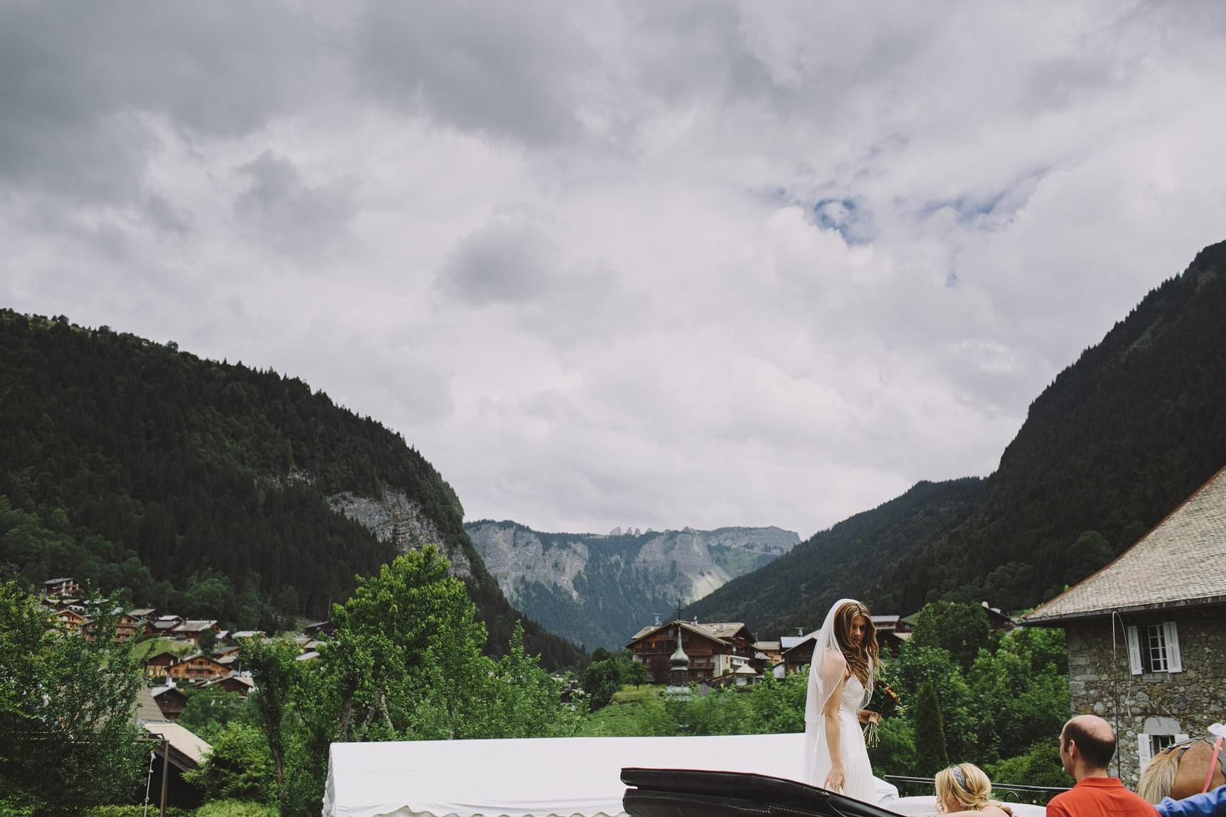 bride in morzine