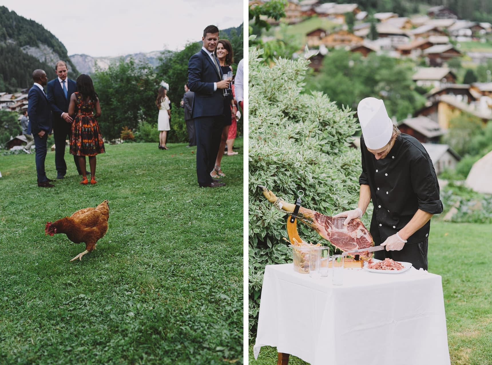 french hillside wedding