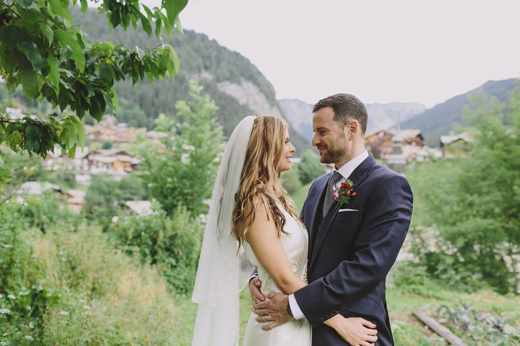 morzine hillside wedding